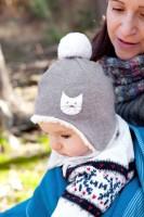 Vorschau: Wintermütze für Babys - Kätzchen
