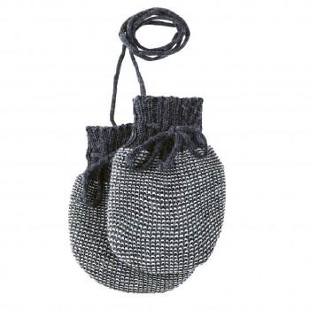 Baby Strickhandschuhe aus Schurwolle anthrazit