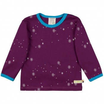 Schneeflocken Shirt langarm in lila