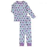 Katzen Pyjama flieder Bündchen