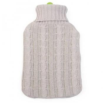 Erwachsenen Wärmflasche 2l mit Strickbezug