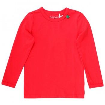 Langarmshirt Basic - kräftiges rot