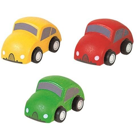 Holzfahrzeuge Mini Autos 3 Stück