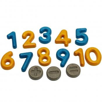 Zahlen und Symbole aus Holz ab 2 Jahren