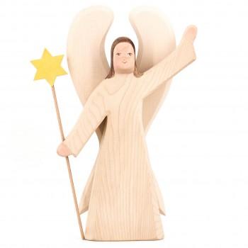Großer Engel mit Stern / Erzengel Figur 32 cm