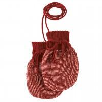 Baby Strickhandschuhe aus Schurwolle bordeaux