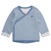 Vorschau: Baby Wickeljacke zum Wenden - kuschelig weich - blau