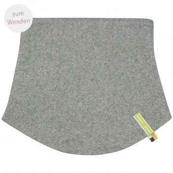Schlauchschlal Fleece zum Wenden in grau