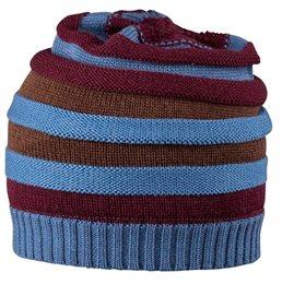 Strickmütze Winter Übergangszeit dehnbar blau