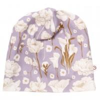 Edle Beanie lavendel Übergangszeit Blumen