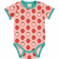 Leichter Body kurzarm Erdbeeren rosa