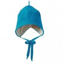 Wintermütze Wolle blau Ohrenschutz