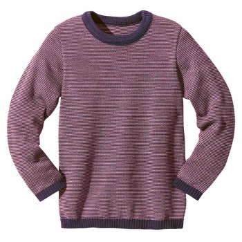 Leichter Wolle Pullover cooles lila