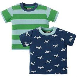 T-Shirt 2 Pack Flieger marine grün