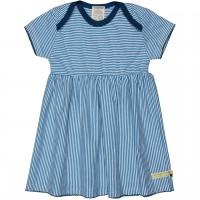 Flatter Kleid feine Streifen blau