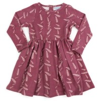 Warmes Kleid Sweat Feder im kräftigem altrosa