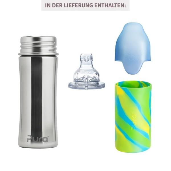 thermo trinkflasche ab 6 monate trinklernaufsatz swirl. Black Bedroom Furniture Sets. Home Design Ideas