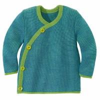 Baby Wickel-Pullover Wolle grün