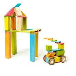 Magnet-Holzbauklötze 42-teilig Tints