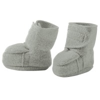 Warme Babyschuhe Klettverschluss Stoppern grau