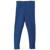 Wolle Leggings warm mitwachsend marine