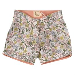 Robuste Shorts Blumen-Design grün