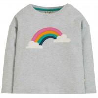Langarmshirt mit Regenbogen in grau