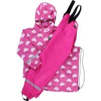 Vorschau: Kinder Regenkleidung SET ungefüttert + Tasche - rosa