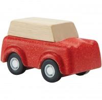 Spielzeug Auto aus Holz ab 3 Jahren rot - 6 cm