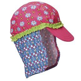 Schirmmütze mit Nackenschutz - Blume