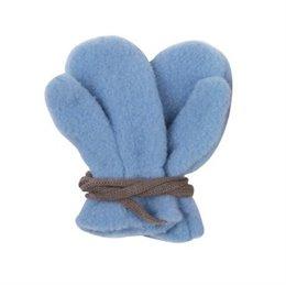 Bio Schurwolle Baby Handschuhe pastellblau
