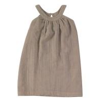 Sommerkleid Musselin grau ohne Arm