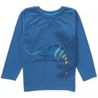 Langarmshirt Chamäleon blau