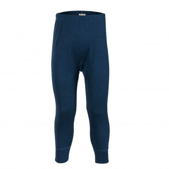 Lange Unterhose Wolle/Seide dunkelblau