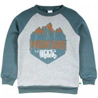 Robuster Sweatpullover Mountains in rauchblau