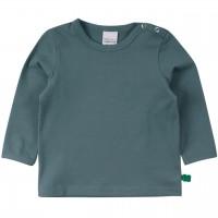 Dehnbares Basic Langarmshirt in grüngrau