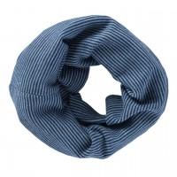 Wolle Seide Schlauchschal blau
