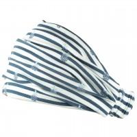 Jersey Haarband Kopftuch Ananas jeansblau