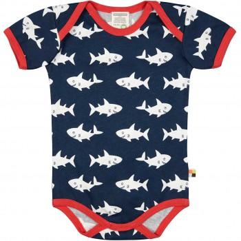 Body kurzarm Haie in dunkelblau