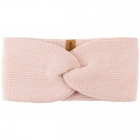 Wolle Seide Stirnband rosa