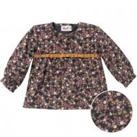 Langarmshirt mit Winterblumen schiefergrau
