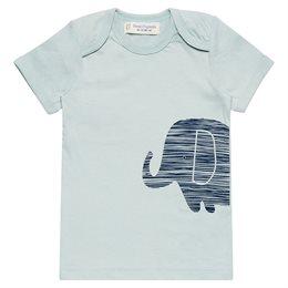 Jungen kurzarm Shirt in hellen Blau