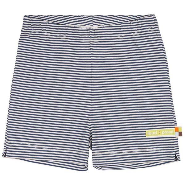 Softe gestreifte marine Shorts