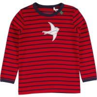 Robustes rotes Mädchenshirt Vogel
