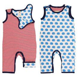 Baby Wendestrampler mitwachsend blauer Igel