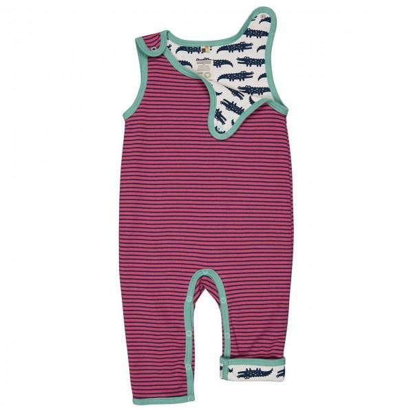 Wendestrampler Ringel pink Krokodile dunkelblau