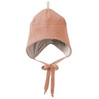 Wolle Wintermütze breiter Ohrenschutz altrosa