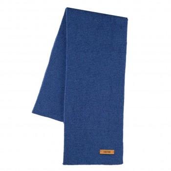 Blauer Kinder Schal Wolle Seide