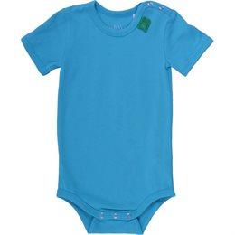 Dehnbarer Bio Body sommerlich frisch - blau