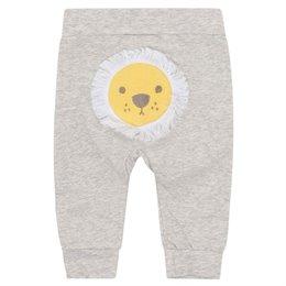 Bequem Babyleggings Bündchen grau